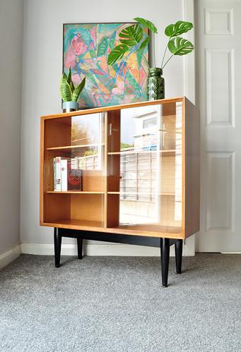 A teak cabinet