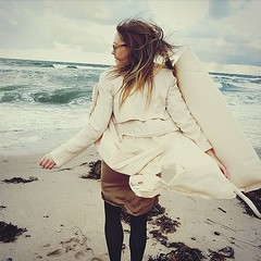 Very Windy Trench (betrenchcoated) Tags: trenchcoat raincoat trench windy woman blowing beautifulgirl flapping flying flattern stormy regenmantel regenjacke beach