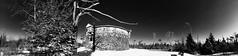 (24hertz) Tags: princeofwalestower pointpleasantpark halifax novascotia panorama snow winter maritime eastcoast canada blackandwhite monochrome