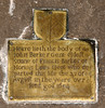 Dronfield, Derbyshire, St. John the Baptist, brass memorial with a coat of arms (groenling) Tags: dronfield derbyshire england britain greatbritain gb uk stjohnthebaptist coatofarms brass memorial barker 1654