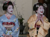 A Guarded Smile &  A Hearty Laugh (Rekishi no Tabi) Tags: maiko geiko geisha apprenticegeisha apprenticegeiko gion kyoto japan leica