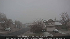 April 9, 2018 - A wintry day. (ThorntonWeather.com)