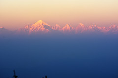 Distant sunset (draskd) Tags: sunset mountainrange panchachuli binsar dusk evening draskd landscape mountainview snowcappedmountain 20thapril2018 79th