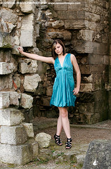 Claudia3796me (sensualimages) Tags: sensualimagesphotography sensual woman lady girl claudia sexy young student ruins bluedress abbey outdoor portrait brunette