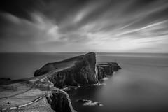 Neist Point lighthouse (jasonhudson2) Tags: lighthouse skye scotland neist point viewpoint longexposure mono blackandwhite bandw sony