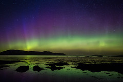 They Say the Neon Lights are Bright in Broadford (SkyeWeasel) Tags: scotland skye broadford aurora auroraborealis northernlights