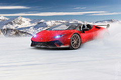 Lamborghini Huracan Performante Spyder Snow Drift (nike_747Original) Tags: naksphotographydsign lamborghini huracan performante spyder snow drift storm supercar hypercar super hyper car sportscar sport class exotic rare luxury color auto limited edition firered coldfire ice rain mountains sky clouds rocks sun flare optic driving fury lp 6404 v10 v 10 convertible cabriolet cabrio roadster