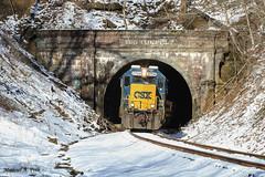CSX 2704 @ Tunnelton, IN (Michael Polk) Tags: csxt baltimore ohio bo mississippi railroad freight train emd gp382 standard cab tunnelton big tunnel indiana subdivision