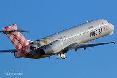 EC-MGS Volotea Airlines Boeing 717-2CM (Planes , ships and trains!) Tags: ecmgs volotea airlines boeing b717 spain spanish pmi mallorca 2016 airborne takeoff airplane aircraft airline