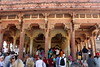 huge turnout at the throne hall (kexi) Tags: jaipur rajasthan india asia amberfort ancient mughal people tourists many thronehall audiencehall arches canon february 2017 columns instantfave