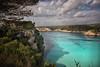 (158/18) Azul turquesa (Pablo Arias) Tags: pabloarias photoshop photomatix capturenxd españa cielo nubes agua mar mediterráneo árbol bahía acantilado cala galdana menorca