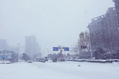 (ys.T) Tags: nanjing snow china winter white travel street cold sky fog iphone 南京
