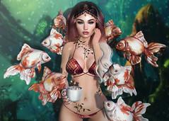 Sirena♥ (EmiliyaTopaz) Tags: catwa runaway avaway fantasy nani arcade sirena goldfish mermaid sl second life blog fashion
