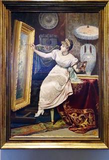 1840 pintura Joven Pintora La Artista de Serafin Martinez del Rincon y Trives Museo de Navarra Pamplona
