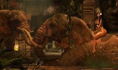 ♛      R O Y A L T Y (Hittas) Tags: cambodia khmer digital art angkor wat khmai secondlife sl virtual elephant