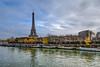 Tour Eiffel - Paris (gilles_t75) Tags: d7200 france gillest hdr nikkor1024mmf3545 nikon bracketing exposurefusion highdynamicrange photohdr photomatix tonemapping îledefrance parisxvi 75016 paris75 toureiffel eiffeltower seine fleuve péniche