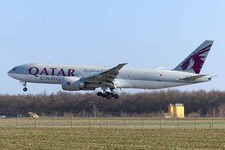 Qatar Airways Cargo - BOEING 777F [A7-BFH] at Luxembourg Airport - 24/03/2018