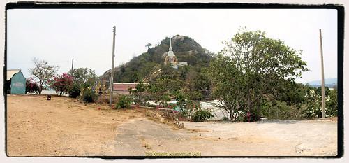 Wat Kow Takiab, or Wat Kao Lad, Chopstick Hill in 2010, a few miles south of Hua Hin. Nong Kae, Prachuap Khiri Khan, Thailand.