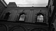 Clouds (javitm99) Tags: clouds nubes architecture arquitectura bn bw b n w blanco negro gris black white grey lucena spain españa museum museo mora