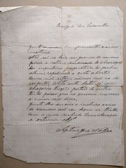 Carta de Artur Nobre para Virgílio Wallis de Carvalho (ACMateus) Tags: antiguidades coleccionismo velharias carta