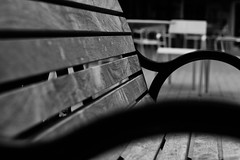 Wood Bench (Joel Apple) Tags: wood victoria table vancouverisland bench chair things blackandwhite canada pacificnorthwest britishcolumbia places northamerica