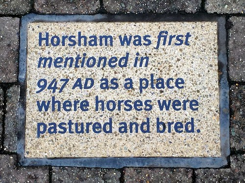 Horsham was first mentioned in 947 AD