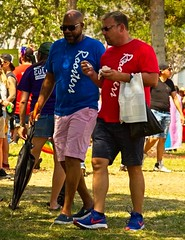 Red & Blue Roosters (LarryJay99 ) Tags: pridefest2018 2018 lakeworth florida festival couple gay gayman men male man guy guys dude dudes manly virile studly stud masculine sexyman bulge bulges bulging mixedcouple facialhair mustache goatee hairface face friends
