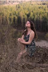Alexa (austinspace) Tags: woman portrait spokane washington model park brunette overlook river dress spring forest