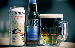 Black & Tan Beer. (EOS) (Mega-Magpie) Tags: canon eos 60d indoors drink cold beer harp guinness black tan mug draught stout premium imported lager