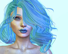 🍎 blue (Apple aka Ossia) Tags: maitreya catwa skinnery suicidal unborn besom secondlife second life sl blogger blogging blog photography photoshop photograph portrait ps blue hair smurf piercing su cute fun