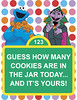Sesame Street Guessing Game Sign (maddieandmarry) Tags: sesamestreet elmo 2nd birthday party game cookiemonster count counting cookies chocolatechip guessing sign poster