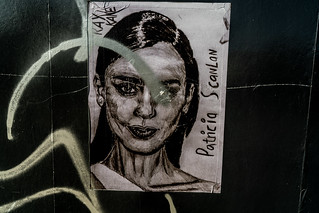 STREET ART BY RAY KANE [SKETCHES NEAR THE FOUR COURTS TRAM STOP]-138721