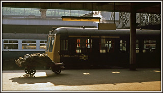 The DMU and the mail trolley......