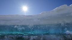 """""""Icescape"""" (Patrice StG) Tags: québec winter hiver shore rivage ice glace stlaurent stlawrence stlawrenceriver fleuve fleuvestlaurent blue green vert bleu nikkor1835g gimp sony a7ii"""