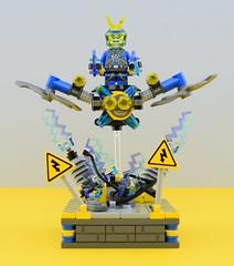 Electrolyzer⚡️ (Alex THELEGOFAN) Tags: lego legography minifigure minifigures minifig minifigurine minifigs minifigurines villain villains bad ultra agent agents electrolyzer electro electricity danger factory astor city blue yellow