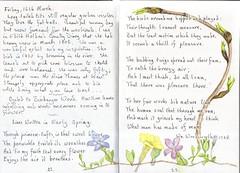 Early Spring (Hornbeam Arts) Tags: wordsworth edithholden periwinkle primrose buds poplar
