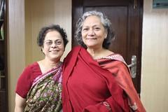 Amma and Ishrat Aunty (olive witch) Tags: 2017 abeerhoque bangladesh bd dec17 december dhaka fem indoors night pair