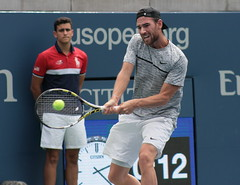 Adrian Mannarino (Svengali Jack) Tags: usta summer august september us open tennis grand slam major tournament racquet sport sports match set serve forehand backhand groundstroke ground stroke volley return grandstand stadium court hard 2017 ball athlete athletic athleticism winner run game