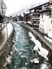 Visp in Zermatt #winter #switzerland #travel #mounatins #iphone #zermatt #winterwoderland #visp #river #enjoy #love #woderful (Elīna Ketty Nolle) Tags: winter switzerland travel mounatins iphone zermatt winterwoderland visp river enjoy love woderful