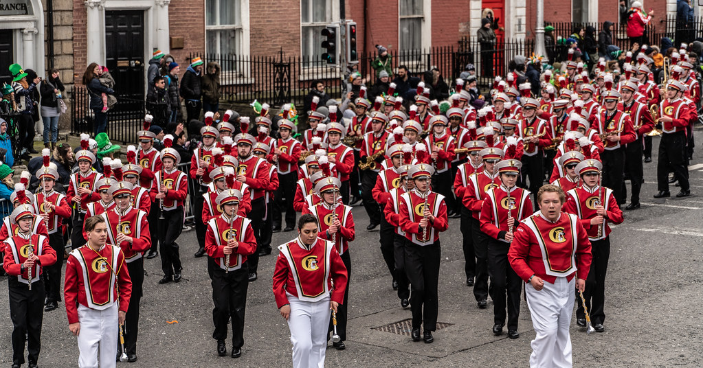 Lakeville South High School Marching Cougars [Dublin Parade March 17 2018]-137671