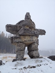 Inuksuk Safe Travels (Mr. Happy Face - Peace :)) Tags: inukshuk art2018 cans2s rock art fernie bc canada skihill flickrfriends travel