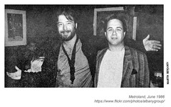 1986 Emilio Castillo and Peter Iselin (albany group archive) Tags: albany ny netroland june history 1986 emilio castillo peter iselin tower power 1980s old vintage photos picture photo photograph historic historical