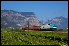 Rail Traction Company EU43-002, Mezzocorona 01-08-2017 (Henk Zwoferink) Tags: pineta trentinoaltoadige italië it lokomotion lomo lm rtx rtc rail traction company mezzocorona 01082017 henk zwoferink eu43 002 eu43002 adtranz bombardier