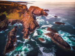 Looking Back (Augmented Reality Images (Getty Contributor)) Tags: portknockie longexposure coastline landscape sunset scotland cliffs water waves seascape morayfirth dji polarprofilters mavicair rocks unitedkingdom gb