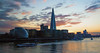 The Shard at sunset (ijpears) Tags: shard belfast thames river london city cityscape sunset clouds sky battleship