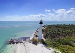 Cape Florida Lighthouse 2 image Panorama (NestorDesigns) Tags: nestordesigns nestorriverajr kap kiteaerialphotography kites florida capefloridalighthouse lighthouse landscape keybiscayne miami ricohgr rigs 9levitationlightdeltakite sand sky shore beach