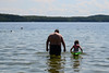Going in the Water with Grandpa (Vegan Butterfly) Tags: outside outdoor summer beach lake people family together grandpa grandfather grandchild child kid cute adorable water swim swimming fun