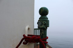 IMG_3378 (tsmattea1) Tags: point reyes station light house houses lighthouse lighthouses metal pole poles bulb bulbs sphere spheres rope ropes tie tied tying red green white handle handles door doors ocean sea seashore fog foggy cloudy overcast teal blue