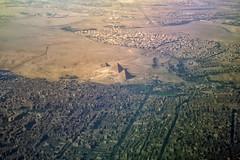 Drone Perspective (Don César) Tags: egypt egipto africa middleeast mediooriente aereal high piramides pyramids egiptian flight plane window city cairo gizah giza yellow desert desierto ciudad