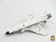 F-8E Crusader of VF-103 Sluggers (Mad physicist) Tags: usnavy vought crusader f8 fighter lego cvw8 f8e sluggers vf103